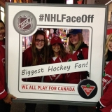 Outdoor Marketing Promotion - NHL Face Off for Cdn Tire in Toronto
