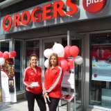 Rogers Hired Promotional Staff for a Grand Opening of their Flagship Store