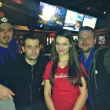 Super Bowl Promo Models at Shoeless Joes