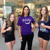 "Tigris promo staff host the ""Smile Station"" at Toronto Eaton Centre"